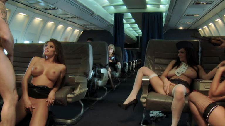 Sex on an aeroplane porn