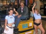That's me on the forklift