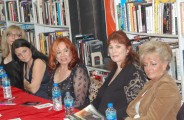 (L-R) Nina Hartley, Laurie Holmes, Kitten Natividad, Kay Parker, Rhonda Jo Petty