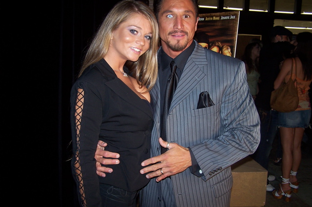 """Pirates"" premiere, September 2005: Tommy Gunn and Rita Faltoyano"