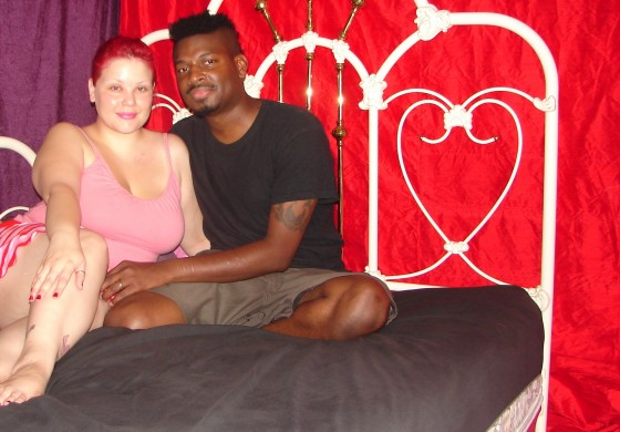April Flores and Carlos Batts, at home in Hollywood, 2006