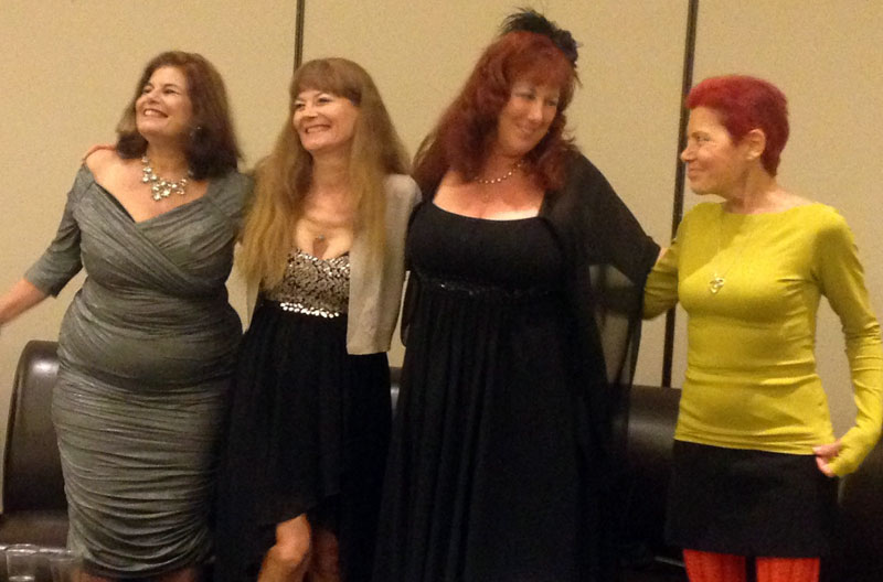 Club 90 reunion at CatalystCon 2014: Veronica Vega, Veronica Hart, Annie Sprinkle, Candida Royalle, photo by Gram Ponante