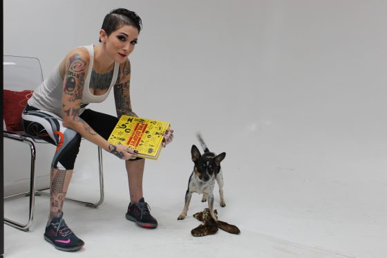 Sully Savage and her dog, Atlas, photographed by Gram Ponante